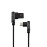 GoGEN USB/USB-C, 1m, oboustraný, opletený černý