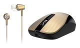 Genius MH-8015 + sluchátka zlatá