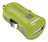 Connect IT InCarz COLORZ, 1x USB, 2,1A (V2) zelený