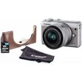Canon EOS M100 + M 15-45 + EH31FJ + 16 GB karta šedý