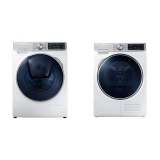 Set (Sušička prádla Samsung DV90N8287AW/ZE) + (Automatická pračka Samsung Quick Drive™ WW90M740NOA/ZE)