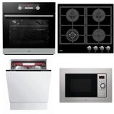 Set (Plynová varná deska Mora VDP 645 GB1) + (Mikrovlnná trouba Mora VMT 312 X) + (Myčka nádobí Mora IM 651) + (Trouba Mora VT 548 BX)