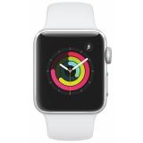 Chytré hodinky Apple Watch Series 3 Watch Series 3 GPS 38mm pouzdro ze stříbrného hliníku - bílý sportovní řemínek