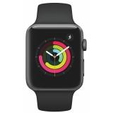 Apple Watch Series 3 Watch Series 3 GPS 42mm pouzdro z vesmírně šedého hliníku - černý sportovní řemínek