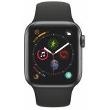 Apple Watch Series 4 Watch Series 4 GPS 40mm pouzdro z vesmírně šedého hliníku - černý sportovní řemínek CZ verze