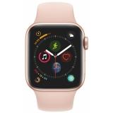 Apple Watch Series 4 Watch Series 4 GPS 40mm pouzdro ze zlatého hliníku - pískově růžový sportovní řemínek CZ verze