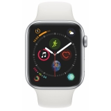 Apple Watch Series 4 Watch Series 4 GPS 44mm pouzdro ze stříbrného hliníku - bílý sportovní řemínek CZ verze