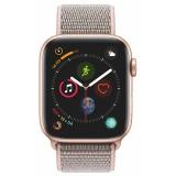 Apple Watch Series 4 Watch Series 4 GPS 44mm pouzdro ze zlatého hliníku - pískově růžový provlékací sportovní řemínek CZ verze