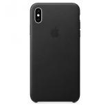 Apple Leather Case pro iPhone Xs černý