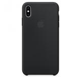 Apple Silicone Case pro iPhone Xs černý