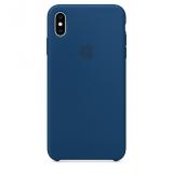 Apple Silicone Case pro iPhone Xs - podvečerně modrý b49b1a005ea