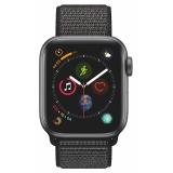 Apple Watch Series 4 GPS 40mm pouzdro z vesmírně šedého hliníku - černý provlékací sportovní řemínek SK verze