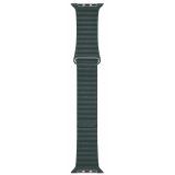 Apple Watch 44mm piniově zelený kožený - střední
