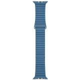 Apple Watch 44mm modrošedý kožený - střední