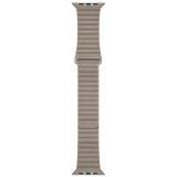 Apple Watch 44mm kamenně šedý kožený - střední