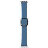 Apple Watch 40mm modrošedý s moderní přezkou - střední