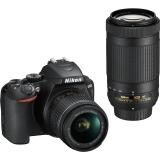 Nikon D3500 + 18-55 AF-P VR + 70-300 AF-P VR černý + dárek