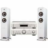 Set (CD přehrávač Denon DCD-800NE) + (Zesilovač Denon PMA-800NE) + (2x Reproduktory Polk Signature S55E, 1ks)