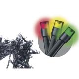 EMOS 100 LED řetěz, 10m, studená bílá/multicolor, programy