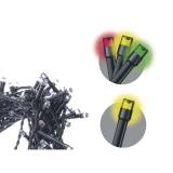 EMOS 100 LED řetěz, 10m, teplá bílá/multicolor, programy