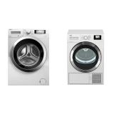 Set (Sušička prádla Beko DS7534CSRX1) + (Automatická pračka Beko Superia WMY 71243 CS PTLMB1)