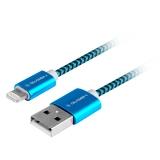 GoGEN USB / lightning, 1m, opletený modrý