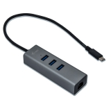 i-tec Metal USB-C/3x USB 3.0 + 1x RJ45 stříbrný