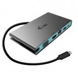 i-tec USB-C 4K HDMI, VGA, 20cm USB-C kabel