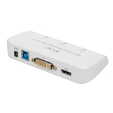 i-tec USB 3.0/ HDMI, DVI, VGA bílá
