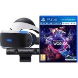 Sony PlayStation VR + kamera + VR Worlds (PSN voucher)