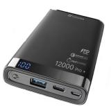 CellularLine Freepower Manta Pro+ 12000mAh, QC 3.0, USB-C černá