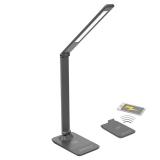 Solight stmívatelná, 10W, bezdrátové nabíjení telefonu šedá
