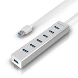 Axagon USB / 7x USB 3.0 stříbrný