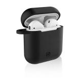 Celly Aircase pro Apple AirPods + nástavce do uší černé