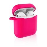 Celly Aircase pro Apple AirPods + nástavce do uší - fuchsiové