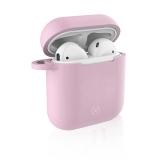Celly Aircase pro Apple AirPods + nástavce do uší růžové