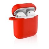Celly Aircase pro Apple AirPods + nástavce do uší červené