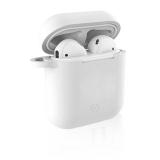 Celly Aircase pro Apple AirPods + nástavce do uší bílé