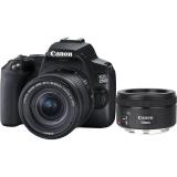 Canon EOS 250D + 18-55 IS STM + 50f/1.8 STM černý