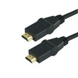 Kabel GoGEN HDMI 1.4, 1,5m, s rotací 180°, pozlacený, High speed, s ethernetem, černý