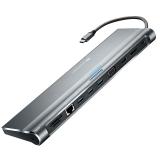 Canyon USB-C/USB3.0 + HDMI + VGA + DVI + RJ45 + 3,5mm Jack šedá