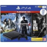 Sony PlayStation 4 PlayStation 4 1 TB + Horizon: Zero Dawn + The Last of Us + Uncharted 4 A Thief's End černá