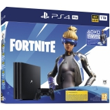 Sony PlayStation 4 Pro + Fortnite balíček 2000 V Bucks černá