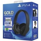 Sony Gold/Black Wireless Headset + Fortnite balíček černý
