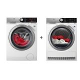 Set (Sušička prádla AEG AbsoluteCare® T8DFE68SC) + (Pračka AEG ProSteam® L7FEE48SC)