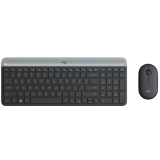 Logitech Wireless Combo Slim MK470 šedá