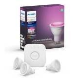 Philips Hue Bluetooth 5,7W, GU10, White and Color Ambiance + Bridge