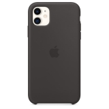 Apple Silicone Case pro iPhone 11 černý