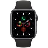 Apple Watch Series 5 GPS 44mm pouzdro z vesmírně šedého hliníku - černý sportovní řemínek