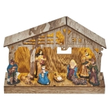 EMOS vánoční betlém, 19cm, 3× AA, teplá bílá, časovač